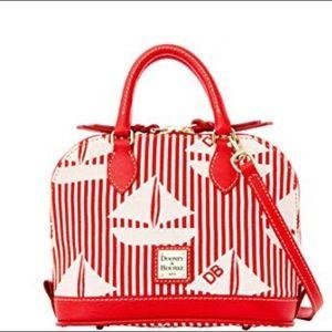Dooney & Bourke Red & White Sailboat Bitsy Bag NWT